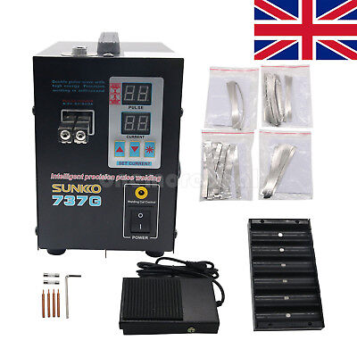 SUNKCO 1.5KW 737G Spot Welder Battery Spot Welding LED Light For 18650 Battery • 101.20£