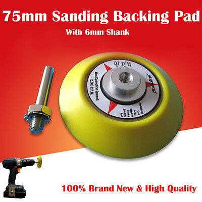 Hook And Loop Backing Pad, Sanding, Polishing Pad With Drill Attachment 3'' 75mm • 7.47£