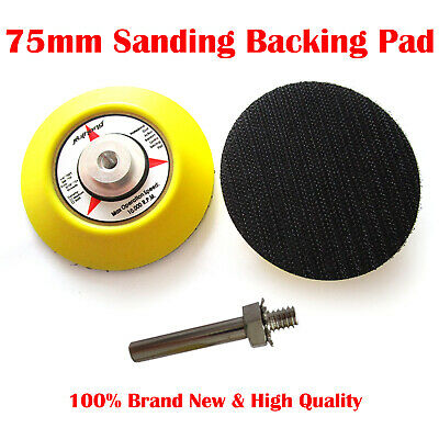 Hook And Loop Backing Pad, Sanding, Polishing Pad With Drill Attachment 3'' 75mm • 7.53£