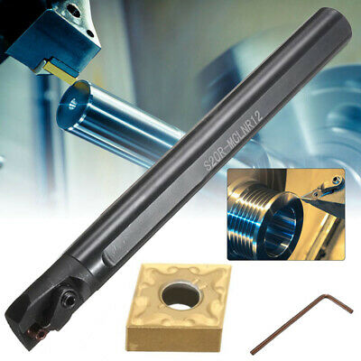 S20R-MCLNR12 Boring Bar Holder Lathe Turning Tool+CNMG1204 Blade Insert + Wrench • 21.88£