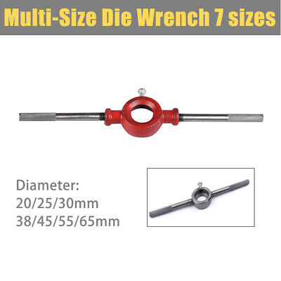 1pcs Detachable Steel Cutter Handle Dia Round Die Stock Wrench 20- 65mm New • 23.43£
