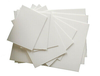 Polystyrene Sheet White Solid Plasticard A5 To A3, 0.5 To 3mm Thick Gloss Finish • 8.90£