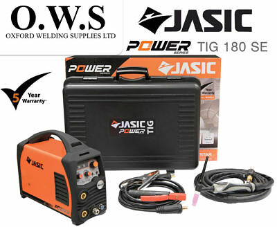 Jasic PRO TIG 180 SE 180amp DC TIG & MMA Inverter Welder With Torch & Leads 230v • 520.80£