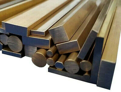 Brass Stock Metal, Square, Flat Bar, Round Rod, Angle & Tube 100mm To 600mm Long • 11.40£