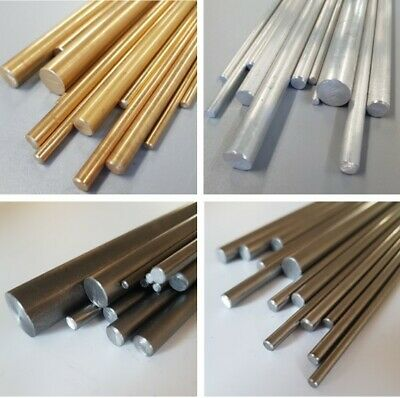 Aluminium, Brass, Mild Steel & Stainless Steel Rod Bar 3, 4, 5, 6, 8, 10 & 12mm • 21.30£