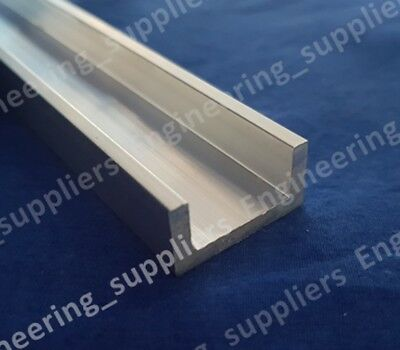 1  X 1/2  X 1/8  Thk Aluminium Unequal U Channel 100mm Up To 600mm Long • 9.99£