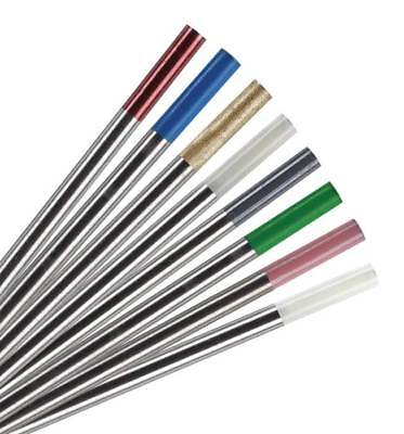 10 X TIG Welding Tungsten Electrode 1.6mm X 150mm  RED, WHITE, GOLD, GREY Ect. • 6.90£