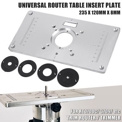 Aluminium Router Table Insert Plate For RT0700C & Universal Trimmer Woodworking • 17.70£