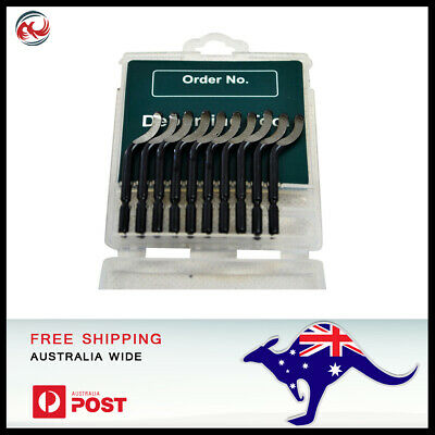 10 Pc Deburring  Swivel Head Shape Replacement Blades E100. • 7.69£