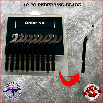 10 Pc Deburring  Swivel Head Shape Replacement Blades E100 • 7.69£