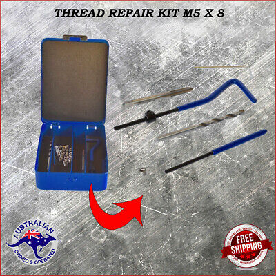 Thread Insert Repair Kit Tap And Drill Bit Helicoil Kit M5 X 8 With Storage Case • 19.31£
