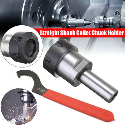 C20-ER32-50L CNC Arbor Straight Shank Collet Chuck Taper Holder 20MM + Wrench • 20.52£