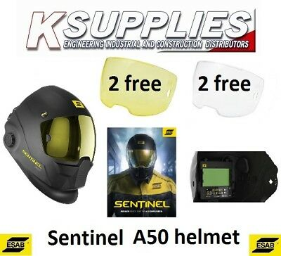 ESAB  Sentinel A50 Welding Helmet Head Shield Includes 6 Spare Lenses &carry Bag • 39.95£