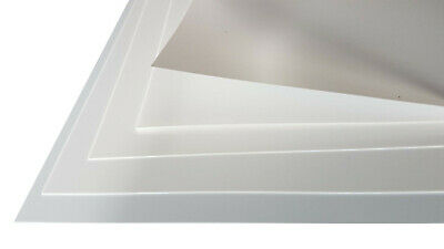 5 Pack White Polystyrene Sheet Plasticard HIPS 0.25, 0.5, 0.75 & 1mm (matt/matt) • 3.75£
