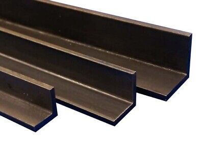 Bright Mild Steel Equal Right Angle 16mm, 20mm, 25mm, 100mm To 600mm Long (EN3B) • 8.95£