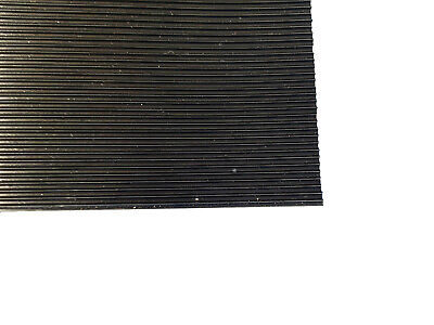 3mm Thick Black Fine Ribbed Ridged Grooved Rubber Mat Lining Squares Sheet Pad  • 23.99£