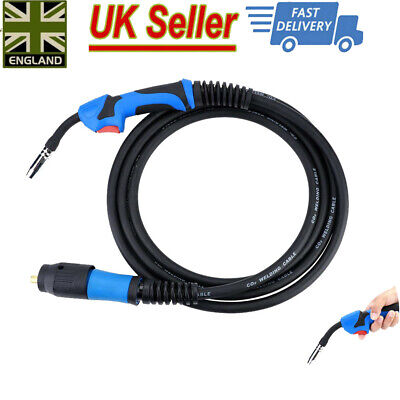 MIG Gas Shielded Welding Torch  MB15 X 4M Euro Standard Fitting Connector 4Meter • 24.99£