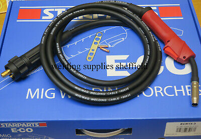 MB15 3m 3metre MIG WELDING EURO TORCH WITH OPTIONALTIPS • 34£