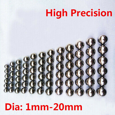 Small Chrome Steel Bearing Ball Dia 1mm-20mm Bike Replacement Parts Various Size • 53.69£
