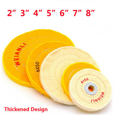 Cloth Polishing Mop Wheel Pad For Buffer Grinder 2/3/4/5/6/7/8 Inch Yellow White • 38.25£