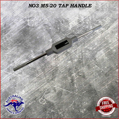 Adjustable Tap Handle T Type Reamer Wrench, Knurled Grip No3 M5 - M20  37.5 Cm . • 16.19£
