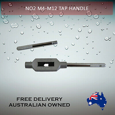 Adjustable Tap Handle T Type Reamer Wrench, Knurled Grip No2 M4 - M12  27.5 Cm  • 15.07£