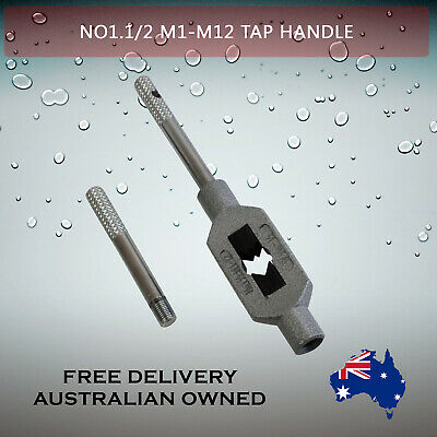 Adjustable Tap Handle T Type Reamer Wrench, Knurled Grip No1.5 M1 - M12    • 13.95£