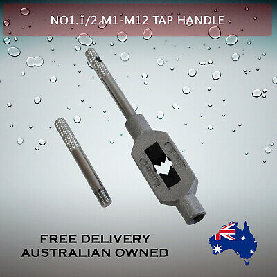 Adjustable Tap Handle T Type Reamer Wrench, Knurled Grip No1.5 M1 - M12    • 13.86£