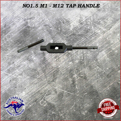 Adjustable Tap Handle T Type Reamer Wrench Knurled Grip No1.5 M1 - M12    • 13.86£