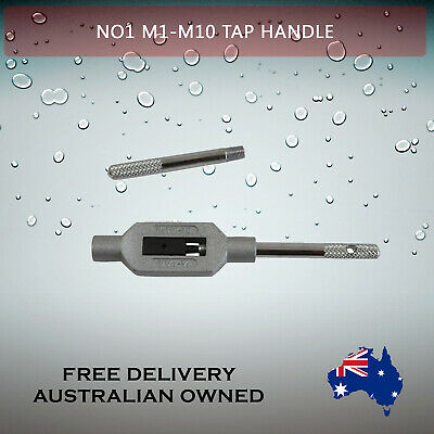 Adjustable Tap Handle T Type Reamer Wrench, Knurled Grip No1 M1 - M10    • 12.84£