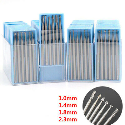 Tungsten Steel Milling Cutter Mix Set 2.35mm Shank Engraving Bits Rotary Files • 25.19£