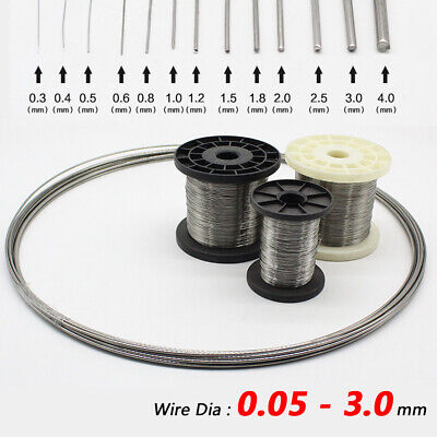 Wire Dia 0.05-3 Mm 304 Stainless Steel Wire Reel Welding Wires Roll 30-100m Long • 49.59£