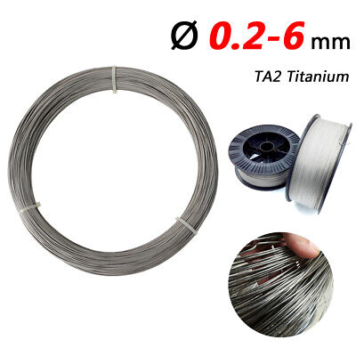 Wire Dia 0.2-6 Mm TA2 Titanium Wire Reel Welding Wires Industrial High Purity • 22.35£