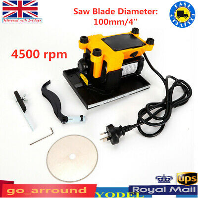 DIY 4500 Rpm Stone Wood Glass Cutter Table Saw Cutting Sawing Tool 2 Saw Blades • 42£