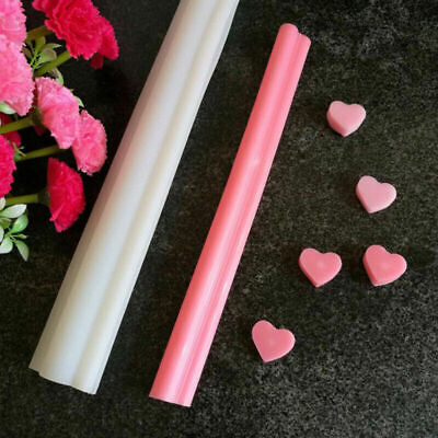 Heart DIY  Silicone Tube Column Mould Candle Soap Making • 15.99£