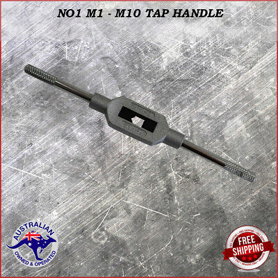 Adjustable Tap Handle T Type Reamer Wrench, Knurled Grip No1 M1 - M10.    • 12.75£