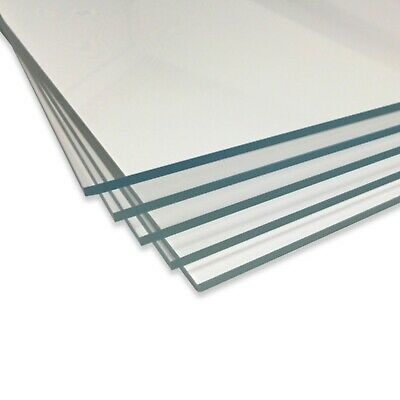 Clear Acrylic Perspex Sheet Panel Cut To Size Plastic Sheets Extrude XT Material • 23.45£