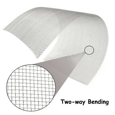 300mm X 600mm 304 Stainless Steel Mesh 8 Wire Cloth Screen 12''x24'' For Nets`uk • 7.99£