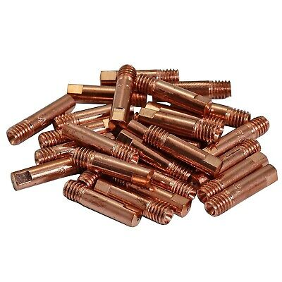 15AK MB15 MAG MIG Welding Torch Contact Tip M6x25mm 140.0059 Pack Of 50 • 28.22£