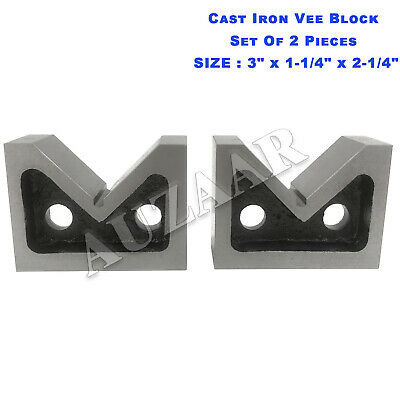 Cast Iron Vee Block Set OF 2 Pieces 3  X 1-1/4  X 2-1/4  V Block Without Clamp • 29.69£