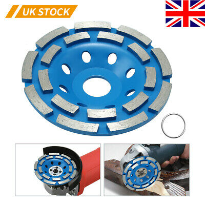 Diamond Bowl Grinding Disc 125mm Double Row Grinding Wheel Blue • 12.65£