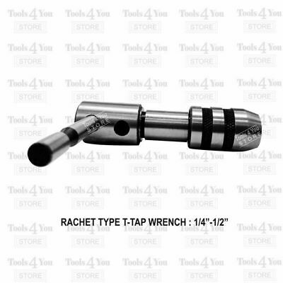 Ratchet Type T Handle Tap Wrench Set Of 3 Pcs Capacity 1/16  Inch To 1/2  Inch • 40.57£