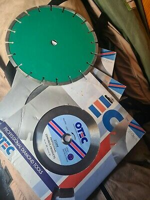 Job Lot X3 OTEC PROFECTIONAL DIAMOND TIP BLADES 300MM + One Extra Thats Opened. • 50£