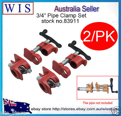 Gluing Pipe Clamp 3/4  2 Sets - Woodworking Vice Hand Tool-83911 • 26.47£