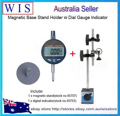 2/PK Magnetic Base Stand Holder For Dial Gauge Indicator With Digital Indicators • 52.22£