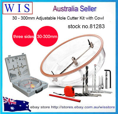 30-300mm Adjustable Drywall And Ceiling Tile Hole Cutter With ABS Dust Shield  • 78.13£