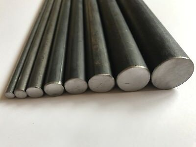 MILD STEEL ROUND SOLID BAR METAL ROD 6,8,10,12,14,16, 20, 25, 30, 40mm DIA SIZES • 25£