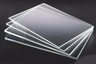 Cut To Size 1mm 1.5mm 2mm & 3mm Clear Perspex® Acrylic Plastic Sheet Stock Panel • 2.99£