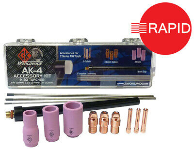 Tig Cup Spare Parts Kit CK AK-4 - For 2 Series (WP9, WP20) Torches • 39.07£