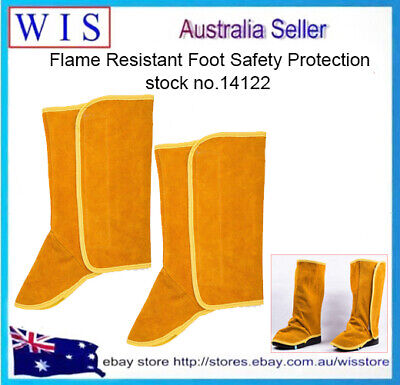 Cowhide Leather Shoe Protector,Flame Resistant Welding Spats,Welding Boot Covers • 16.07£